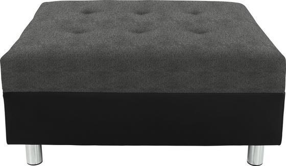Taburet Linda - šedá/světle šedá, Moderní, textil (83/44/78cm)