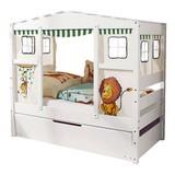 Hausbett Lio Mini 80x160 cm Weiß - Weiß/Naturfarben, MODERN, Holz/Kunststoff (80/160cm) - MID.YOU