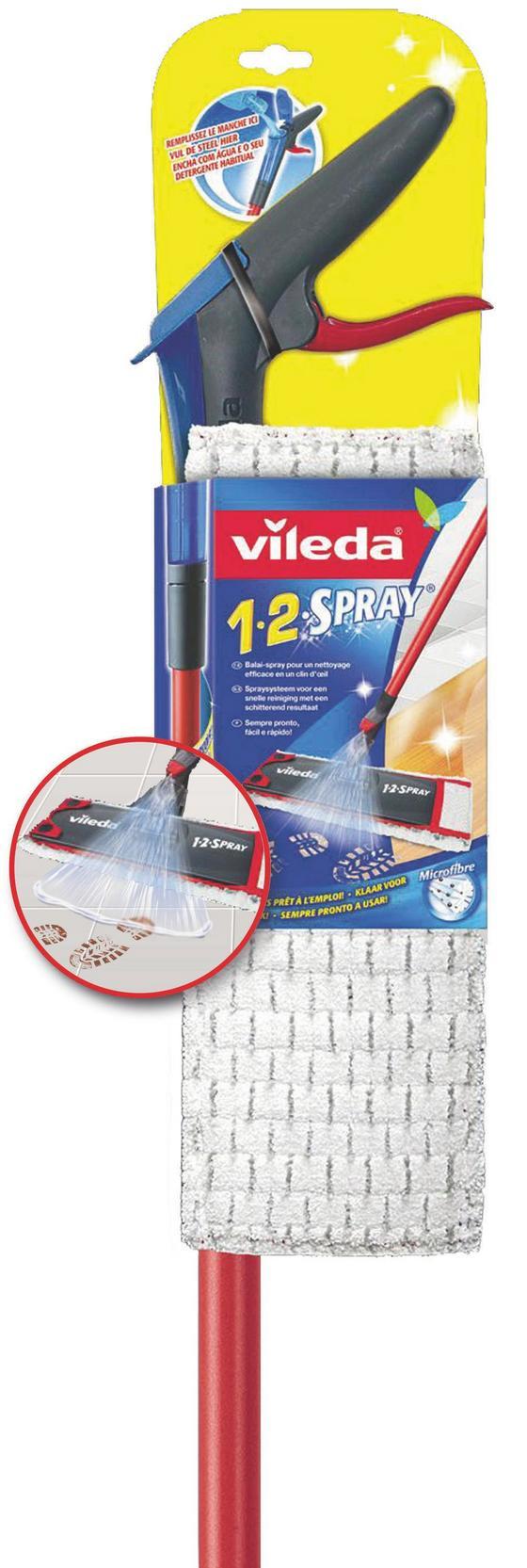 Reinigungsset Vileda 1-2 Spray&wisch - Rot/Schwarz, KONVENTIONELL, Kunststoff/Metall (17/128/9cm)