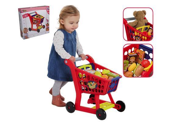 Kindereinkaufswagen mit Zubehör - Blau/Gelb, MODERN, Kunststoff (41/19/33cm)