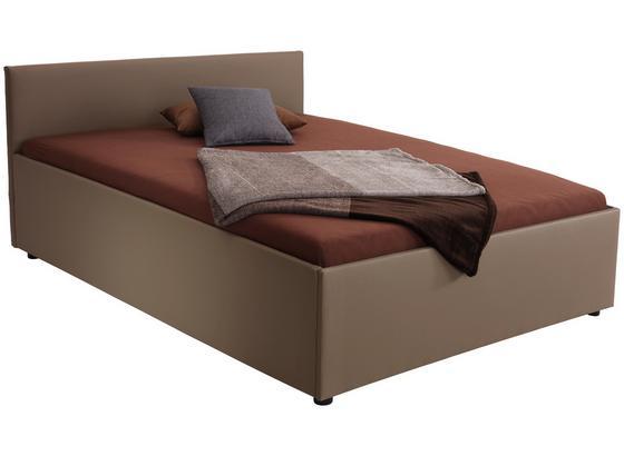 Bett Matto 160x200 Cappucino - Schlammfarben/Schwarz, KONVENTIONELL, Textil (160/200cm)