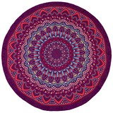 Strandtuch D: ca. 145cm - Blau/Lila, Textil (145cm)