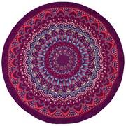 Strandtuch Mix - Blau/Lila, Textil (145cm)