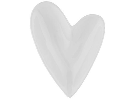Dekoračná Miska Paula I - biela, Romantický / Vidiecky, keramika (12/9/3cm)