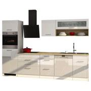 Küchenblock Mailand Gsp B: 300 cm Weiß - Eichefarben/Weiß, Basics, Holzwerkstoff (300/200/60cm) - MID.YOU