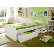 Stauraumbett Erna 100x200 cm - Weiß, Basics, Holz (100/200cm) - MID.YOU