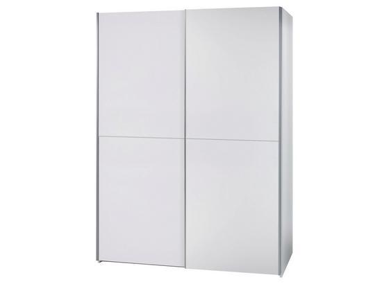 Schwebetürenschrank Starter B: 170 cm Schachbrettweiß - Weiß, Design, Holzwerkstoff (170/195/60cm) - Carryhome