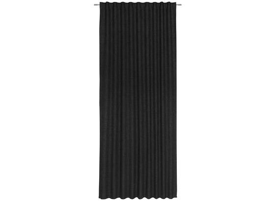 Závěs Leo -top- - černá, textil (135/255cm) - Premium Living