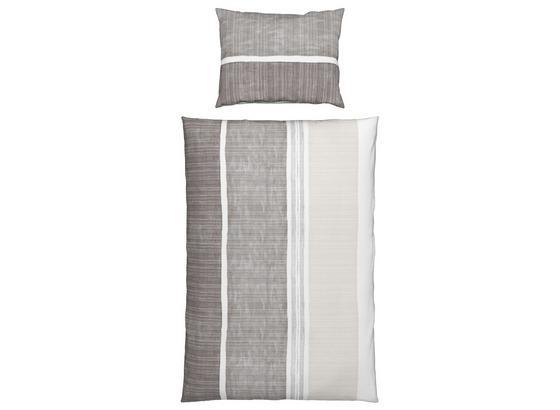 Bettwäsche Lola - Braun/Weiß, ROMANTIK / LANDHAUS, Textil - Ombra