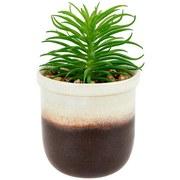 Kunstpflanze Caden - Schwarz/Weiß, Basics, Kunststoff (10/13cm) - Luca Bessoni