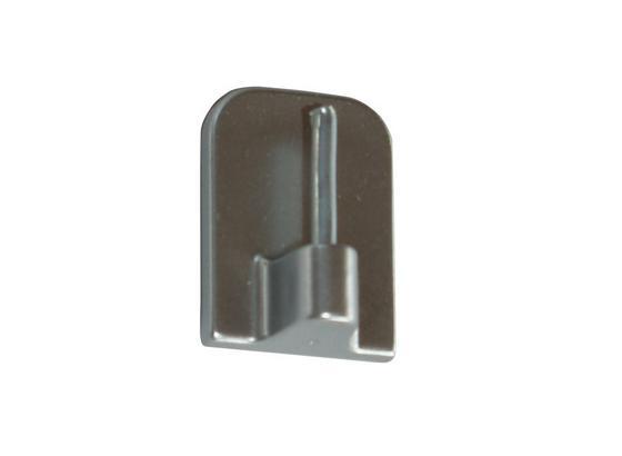 Selbstklebehaken Chrom Matt - Silberfarben, KONVENTIONELL, Kunststoff/Metall - Ombra