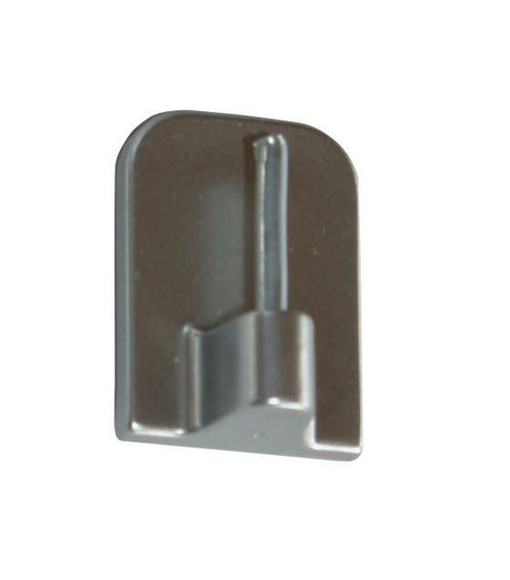 Selbstklebehaken Chrom Matt - Silberfarben, KONVENTIONELL, Kunststoff/Metall