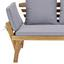 Gartenbank Holz 2-Sitzer Bali mit Liegefunktion und Kissen - Grau/Akaziefarben, MODERN, Holz/Textil (190/75/68cm) - James Wood