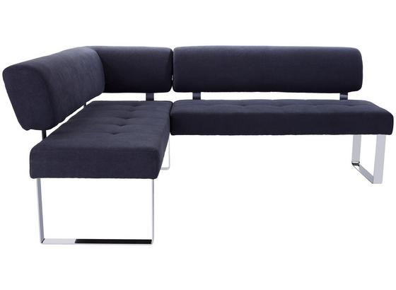 Eckbank Cres - Chromfarben/Grau, MODERN, Holz/Textil (177/216cm)