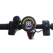 Elektroscooter Esa 800 - Schwarz, KONVENTIONELL, Kunststoff/Metall (103/43/101cm)