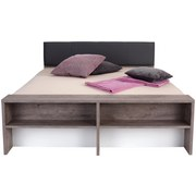 Doppelbett Julia 180x200 Haveleiche/Weiß - Eichefarben/Braun, KONVENTIONELL, Holzwerkstoff/Textil (186/54-95/226cm)