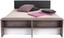 Postel Julia - bílá/barvy dubu, Konvenční, kompozitní dřevo/textilie (186/54-95/226cm)