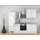 Küchenblock Wito 270cm Weiß - Weiß/Grau, MODERN, Holzwerkstoff (270/60cm)