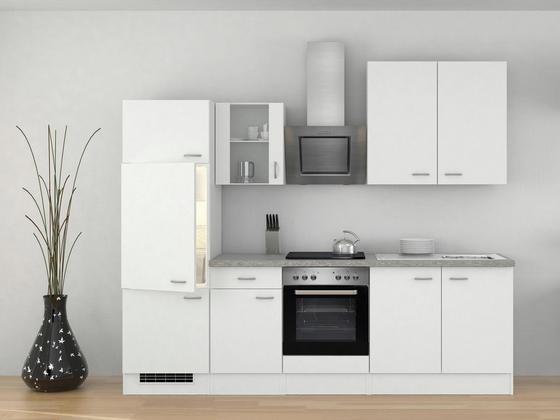 Küchenblock wito 270cm weiß weiß grau modern holzwerkstoff 270 60cm