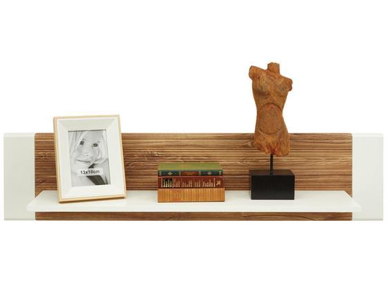 Nást. Police Se Zadním Panelem Leonardo - bílá/barvy dubu, Moderní, kompozitní dřevo (120/28/24cm) - Modern Living