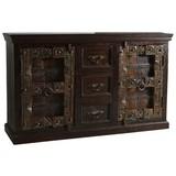 Sideboard Leon B: 150 cm Recyclingholz - Braun/Bronzefarben, Basics, Holz (150/90/45cm)
