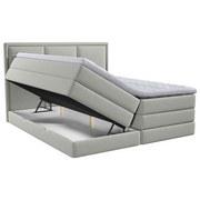 Boxspringbett mit Topper & Bettkasten 200x200 Swing - Hellgrau, Design, Holzwerkstoff/Textil (200/200cm) - Xora