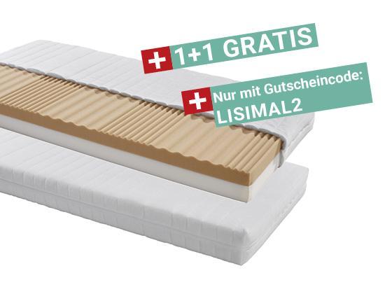 Kaltschaummatratze Lisi H2 90x200 - Weiß, KONVENTIONELL, Textil (90/200cm) - Primatex