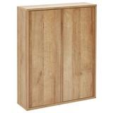 Hängeschrank Finn B:60cm Eiche/Dekor - Eichefarben, MODERN, Glas/Holzwerkstoff (60/75/18,5cm) - MID.YOU