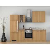 Küchenblock Nano 270 cm Buche - Buchefarben/Creme, MODERN, Holzwerkstoff (270/60cm) - FlexWell.ai