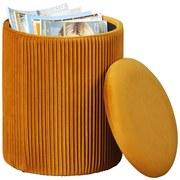 Hocker Salim Curry B: 35 cm - Currygelb, Basics, Holzwerkstoff/Textil (35/44/35cm)