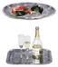 Serviertablett Alessa - Chromfarben, ROMANTIK / LANDHAUS, Metall (41.1/31cm) - James Wood