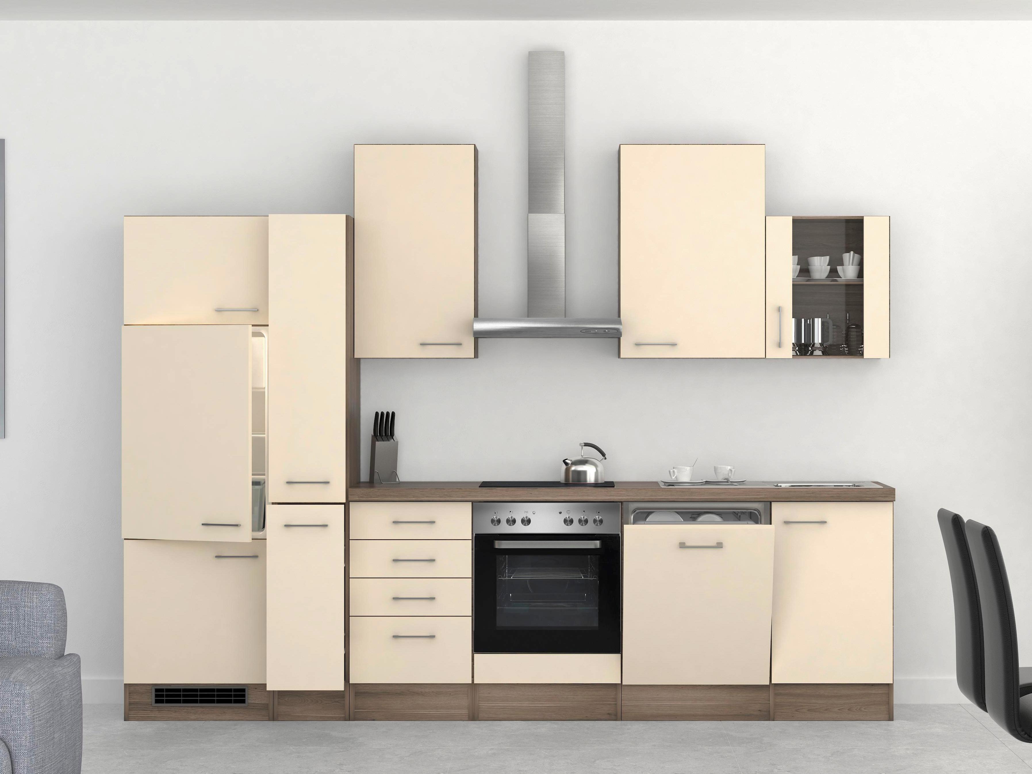 Mini Kühlschrank Möbelix : Küchenblock eico cm magnolie online kaufen ➤ möbelix