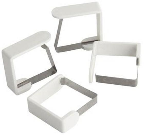 Tischtuchklammer 4 Stk./Pkg. - Weiß, KONVENTIONELL, Kunststoff/Metall (4,5cm) - Fackelmann