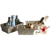 Regalkorbset Gesa, Beige - Beige, KONVENTIONELL, Kunststoff/Metall - OMBRA