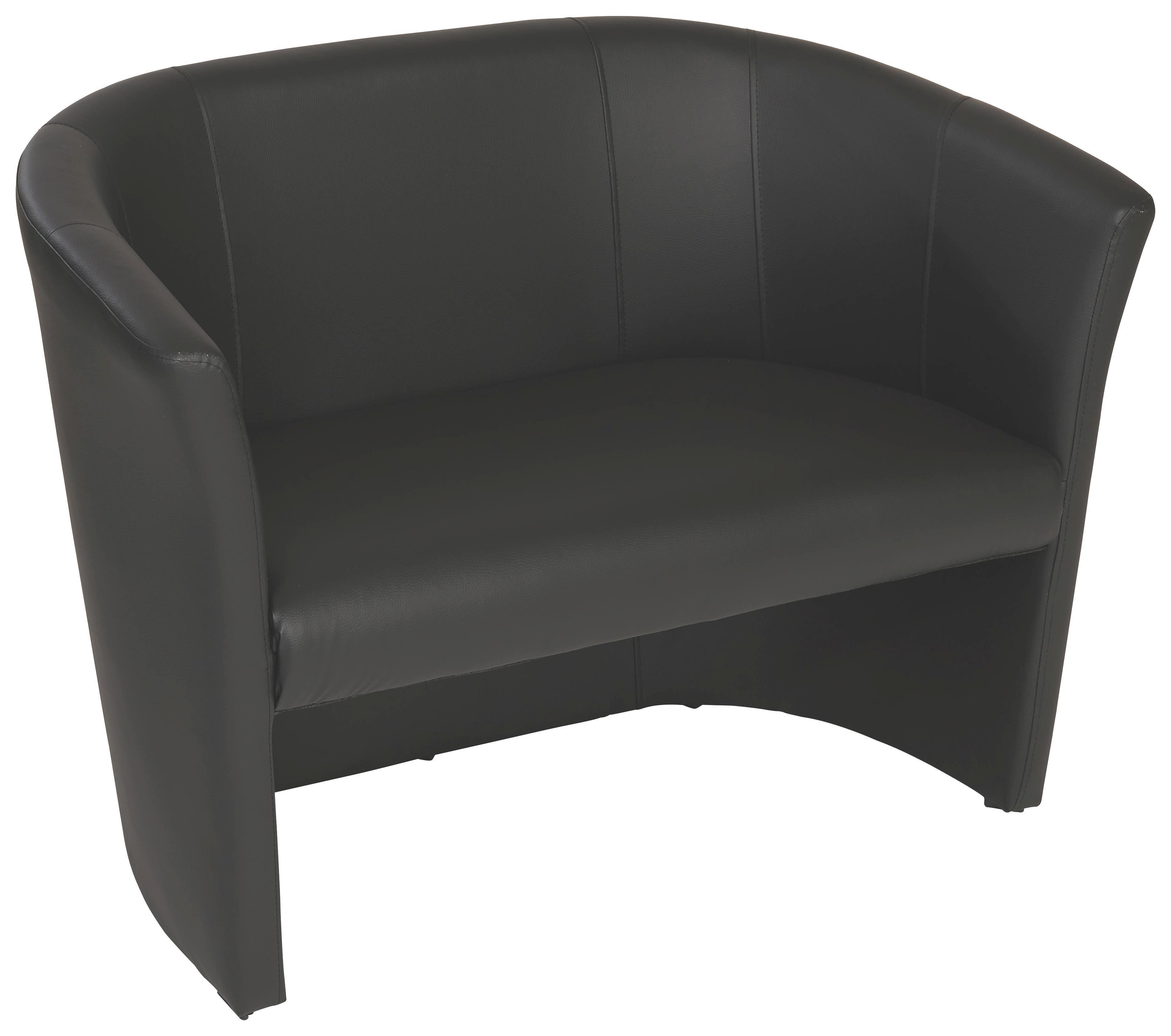 2-üléses Hugo Duo - fekete, modern, textil (118/76/59cm) - OMBRA