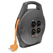 Verlängerungskabel Kabelbox 10m - Schwarz/Orange, Kunststoff (22/27,5/7cm)