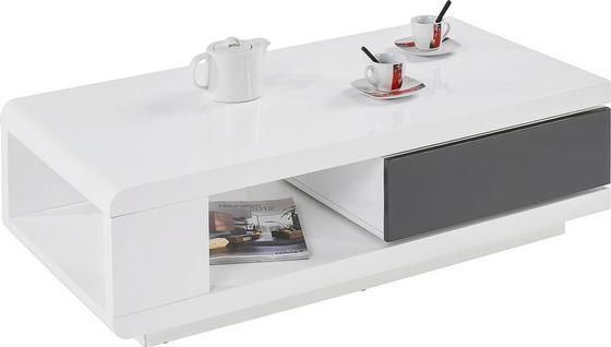 Konferenčný Stolík Chicago - biela, Moderný, drevený materiál (120/36/60cm)