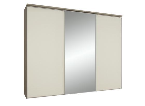 Skříň S Posuvnými Dveřmi Sonate Rom - magnolie/světle hnědá, Lifestyle, kompozitní dřevo/sklo (249/222/68cm) - Premium Living