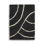 Hochflorteppich Diana - Weiß/Grau, Textil (120/170cm) - LUCA BESSONI