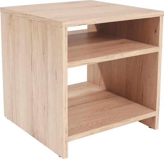 Odkládací Stolek Luca Lct01 - barvy dubu, Moderní, kompozitní dřevo (40/40/37cm)