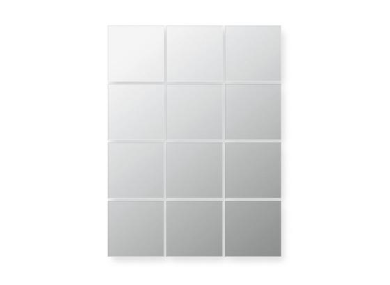 Sada Zrcadlových Dlaždic Quattro - barvy stříbra, Konvenční, sklo (15/15cm)