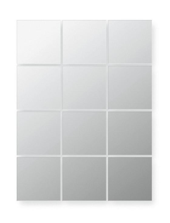 Spiegelfliesenset Quattro - Silberfarben, LIFESTYLE, Glas (15/15cm)