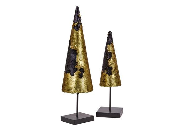 Dekoračný Strom Katy - čierna/zlatá, kov (15/15/52cm) - Mömax modern living