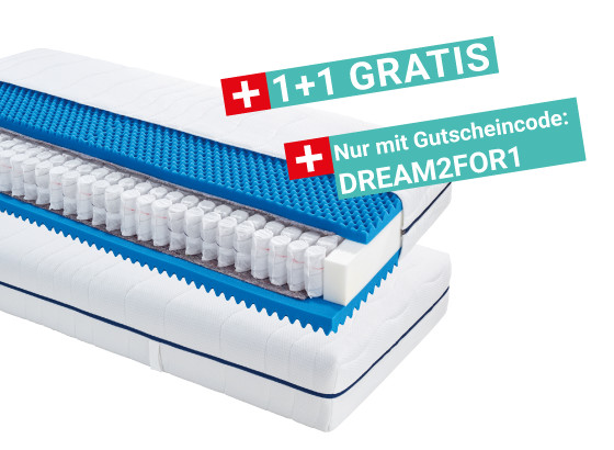 Taschenfederkernmatratze Comfort Dream H2 90x200