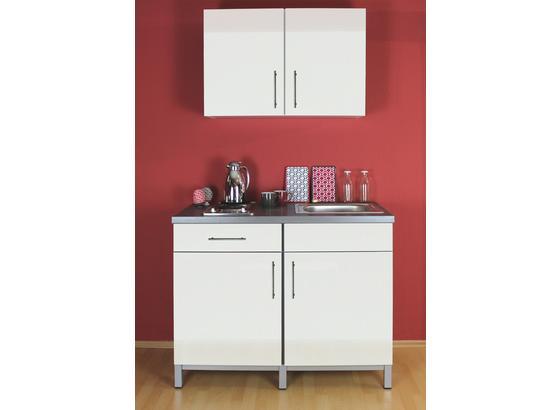 Miniküche 120 Cm Breit Mit Kühlschrank : Miniküche rack time 120 cm grau weiß online kaufen ➤ möbelix