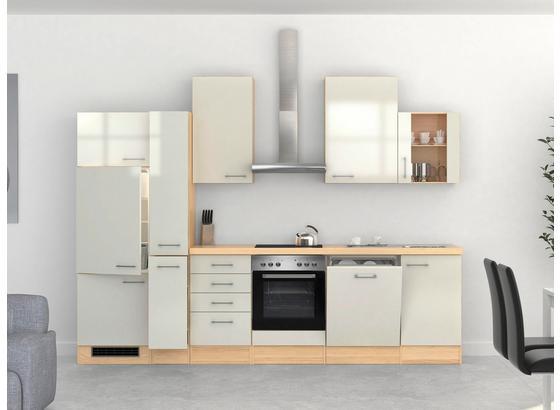 Küchenblock Abaco 310 cm Perlmutt - Edelstahlfarben/Perlmutt, MODERN, Holzwerkstoff (310/60cm)
