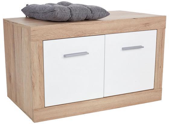 Lavica Do Predsiene/šatníka Malta - farby dubu/biela, Moderný, kompozitné drevo (94,9/49,2/36cm)