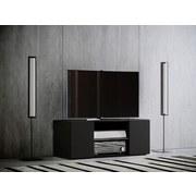 TV-Element Lowina B: 95 cm Schwarz - Schwarz, KONVENTIONELL, Holzwerkstoff (95/40/36cm) - MID.YOU