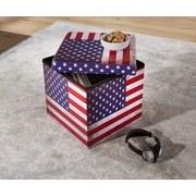 Sitzbox America - Multicolor, MODERN, Holzwerkstoff/Textil (38/38/38cm)