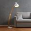 Stojacia Lampa Nerea - prírodné farby/biela, Moderný, kov/drevo (87/22/150cm) - Modern Living